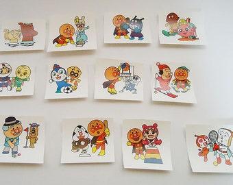 Twelve Anpanman Papers.Cute and Rare