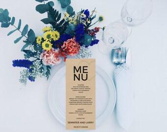 Minimalist Menu Template, Wedding Menu, Menu Card Template, Wedding Menu Card Printable, Printable Wedding Menu Template, digital download