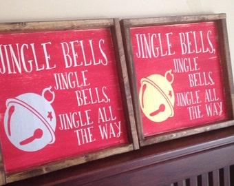 GOLD* Jingle Bells Sign