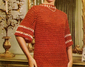 Lady's dress crochet patterns. Instant PDF download!