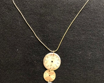 Gold Watch Face Necklace