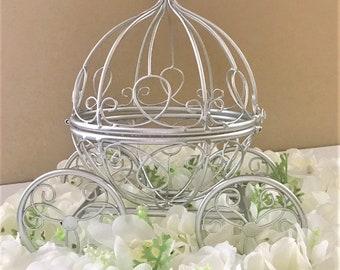 Cinderella Coach Centerpiece, Fairytale Wedding Centerpiece/Platinum Baby Shower/Princess Party/Quinceañera