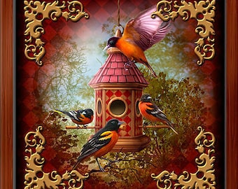 Wood Box - Lenormand Birds