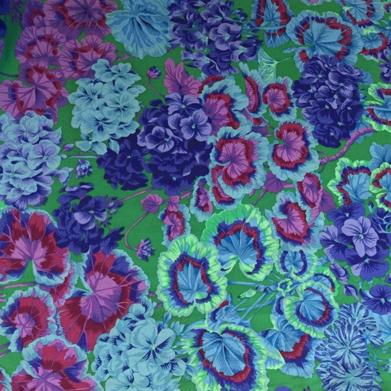 GERTRUDE Green PWPJ065 Philip Jacobs Kaffe Fassett Collective Sold in 1/2 yd increments