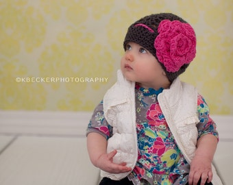baby hat, girls winter hat,  baby girl hat, girls hat, toddler girl hat, little girls hat, crochet kids hat, crochet baby hat, girls hat