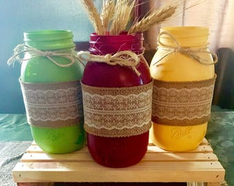 Mason Jar Set-Fall