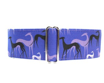 Greyhound Collar, Purple Martingale Dog Collar, Greyhound Martingale Collar, Greyhound Dog Collar, Galgo Martingale Collar, Galgo Collar