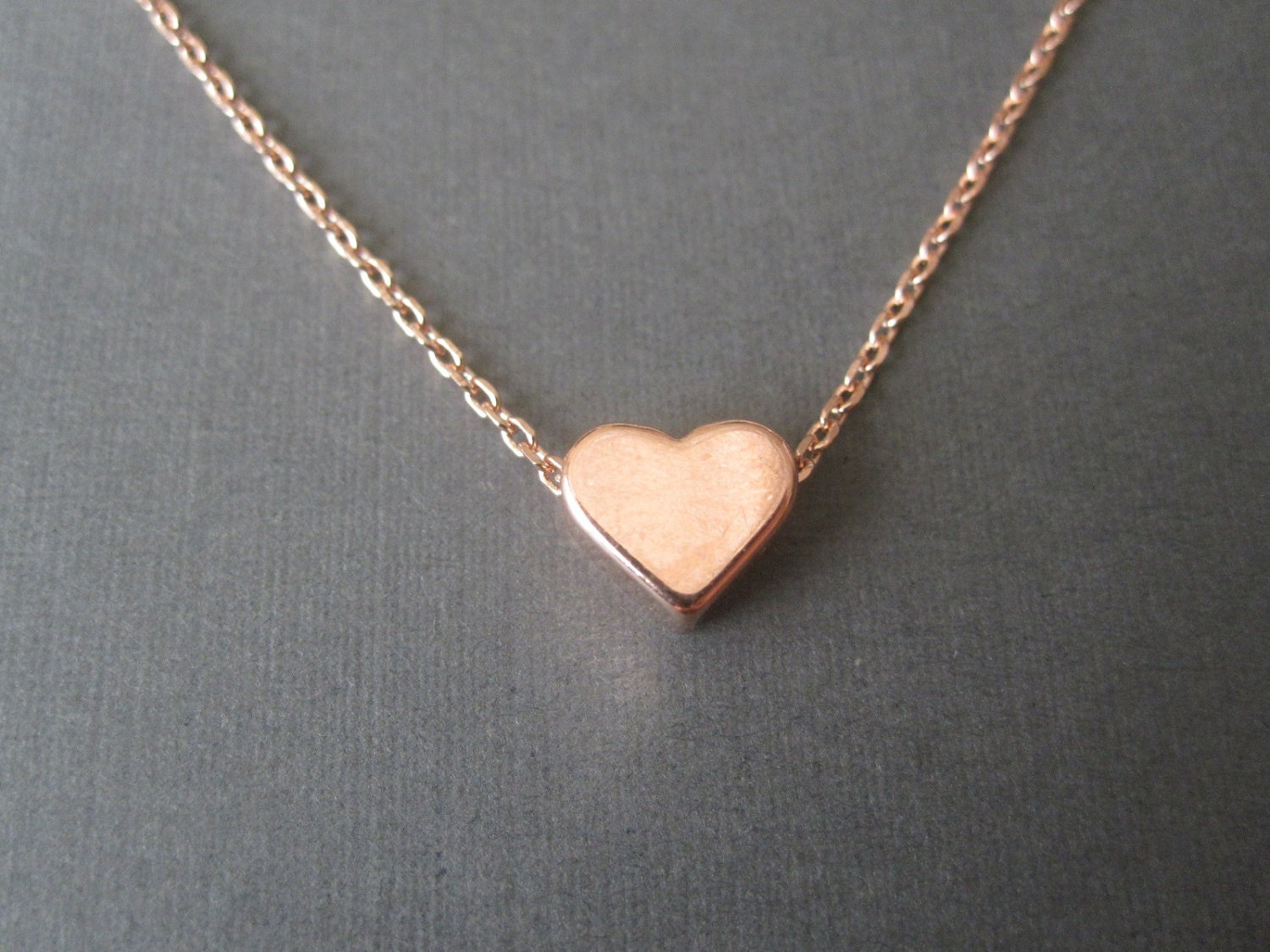 Rose gold heart necklace aloadofball