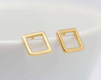Earring Gold plated Square stud earrings