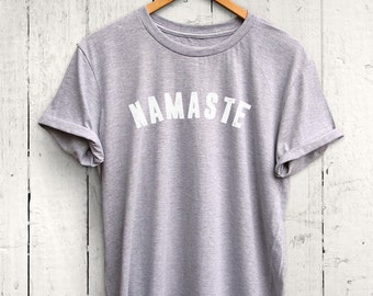 Namaste Tshirt, Yoga Tshirt, Yoga Top, Fun Yoga Shirt, Namaste Shirt, Yoga Namaste Tee