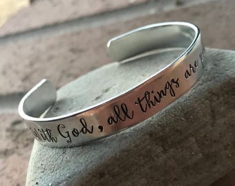 With God, all things are possible - cuff