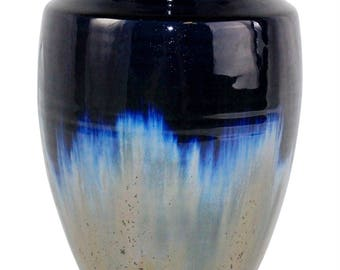 Ephraim Faience Pottery 1998 Medium Crystal Flambe Vase