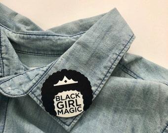 Black Girl Magic-Afro Pin / Shrink Plastic