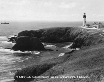 Newport, Oregon Yaquina Lighthouse View Photograph (Art Prints available in multiple sizes)