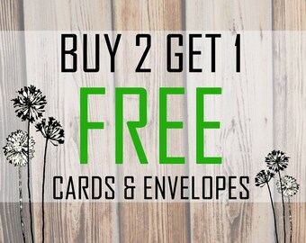 Buy 2 Get 1 Free Cards- Your Choice of Cards