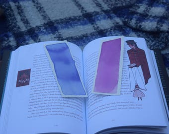 Handmade Watercolor Bookmarks