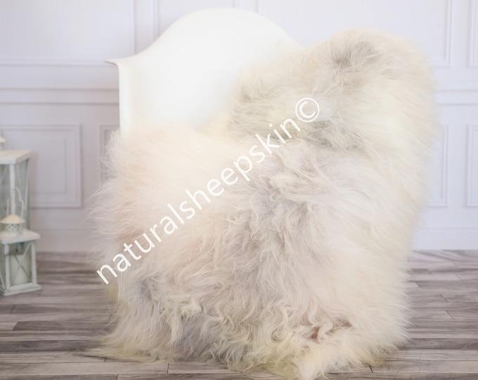 Icelandic Sheepskin | Real Sheepskin Rug | Ivory Gray Sheepskin Rug | Fur Rug | Homedecor #febisl19