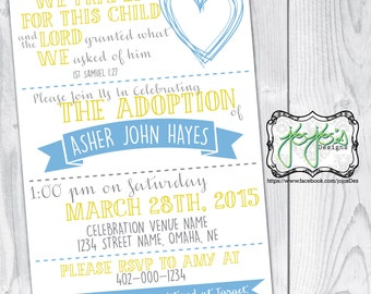 Adoption Invitation Etsy
