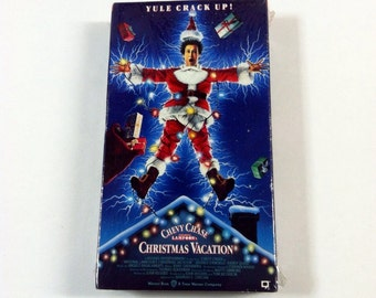 Vintage Christmas Vacation VHS Tape, Sealed National Lampoon's Chevy Chase Film, Holiday Comedy Movie