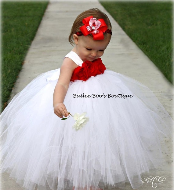 Items similar to 4th of july tutu dress red white tutu dress items similar to 4th of july tutu dress red white tutu dress flower girl tutu dress tutu dress 12 months to 2 toddler on etsy mightylinksfo Images