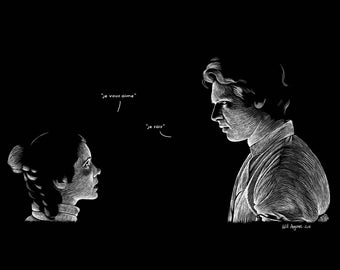 POSTER Princess Leia Han Solo