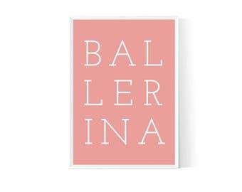Ballerina nursery  Ballerina wall art  Dancing ballerinas  Ballerina art print  Ballerina print  Ballerina decor  Ballerina bedroom