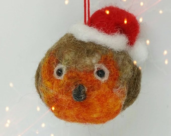 Robin redbreast, Robin ,needle felted robin, Christmas tree ornament, Christmas decorations  ,felt bird, Christmas robin