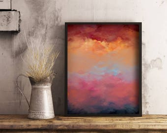 Colourful Art Download, Printable Abstract Art, Modern Home Decor, A3 Printable Affordable Wall Art