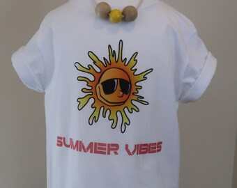 Toddler 2T 3T 4T 5T Summer Vibes tshirt