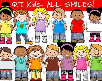 CLIP ART -  QT Kids - All Smiles