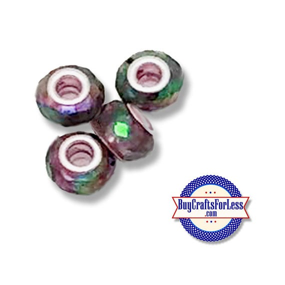 Acrylic BEADs, Shimmer MultiColor, 8 or 25 pcs pcs  +FREE SHiPPing & Discounts*