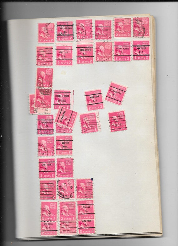 USA John ADAMS 2 Cent Postage Stamps Bulk Lot Free