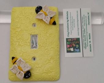 Bumble Bee / Yellow Jacket Single Switch Plate