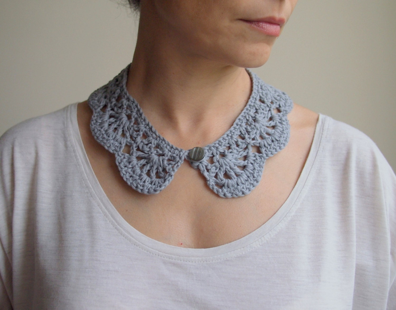 Crochet Pattern woman collar Peter Pan collar girl