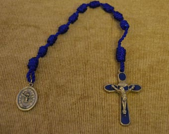 Holy Family Blue Cross Single Rope Chaplet