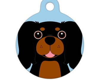 Pet ID Tag - Cavalier King Charles Spaniel - Black and Tan Pet Tag, Dog Tag