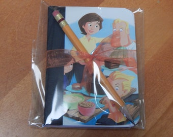 Up cycled MINI Composition Book Disney The Incredables