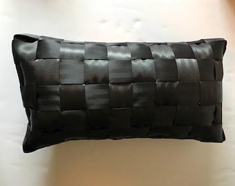 Seat belt pillow, black seatbelt pillow