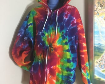 XL tie dye hoodie bright swirl