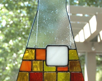 Science Glass: flask suncatcher