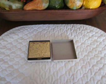 Vintage Brass Powder Compact In Excellent Condition