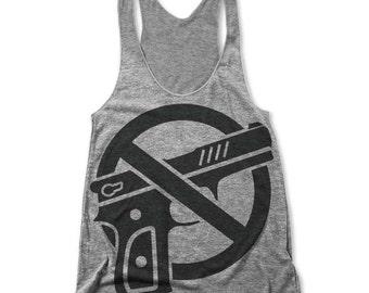 No Guns (Women's Racerback Tank)
