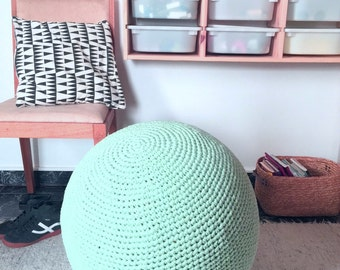 Birth Ball Cover, Crochet Gym Ball Cover, Pilates Yoga Ball Cover, Office Chair,  Exercise Ball Knit Slipcover, Footstool Ball, Eco friendly