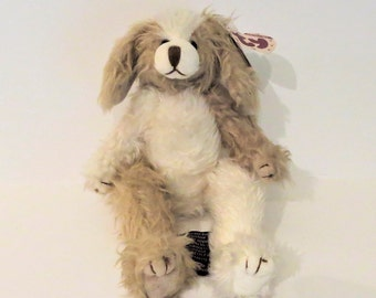 """Collectible 9"""" Stuffed Puppy Dog """"Scruffy"""" By Ty"""
