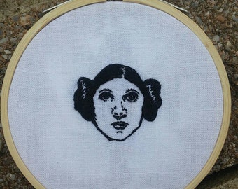 Hand Embroidered Princess Leia Star Wars A New Hope Carrie Fisher