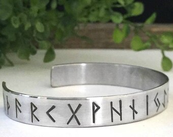 Rune Bracelet - Viking Jewelry - Women Men Viking - Norse - Viking Protection - Viking Wedding - Elder Futhark - Runes - Pagan Wedding