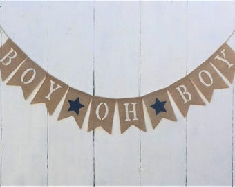Baby Boy Burlap Banner,Baby Boy Banner,Gender Reveal,Baby Boy Shower Decor,Baby Boy Nursery Decor,Baby Boy Bunting/Garland