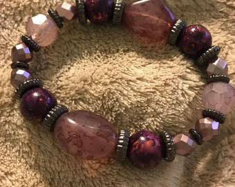 Purple stretch bracelet