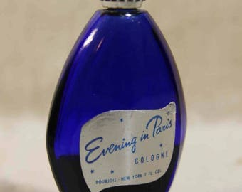 Evening In Paris Cologne 2 Ounce Bottle Half Full