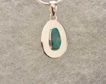 Australian Opal Gemstone Pendant Necklace